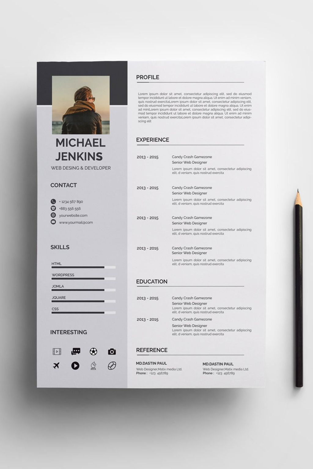 micheral resume template