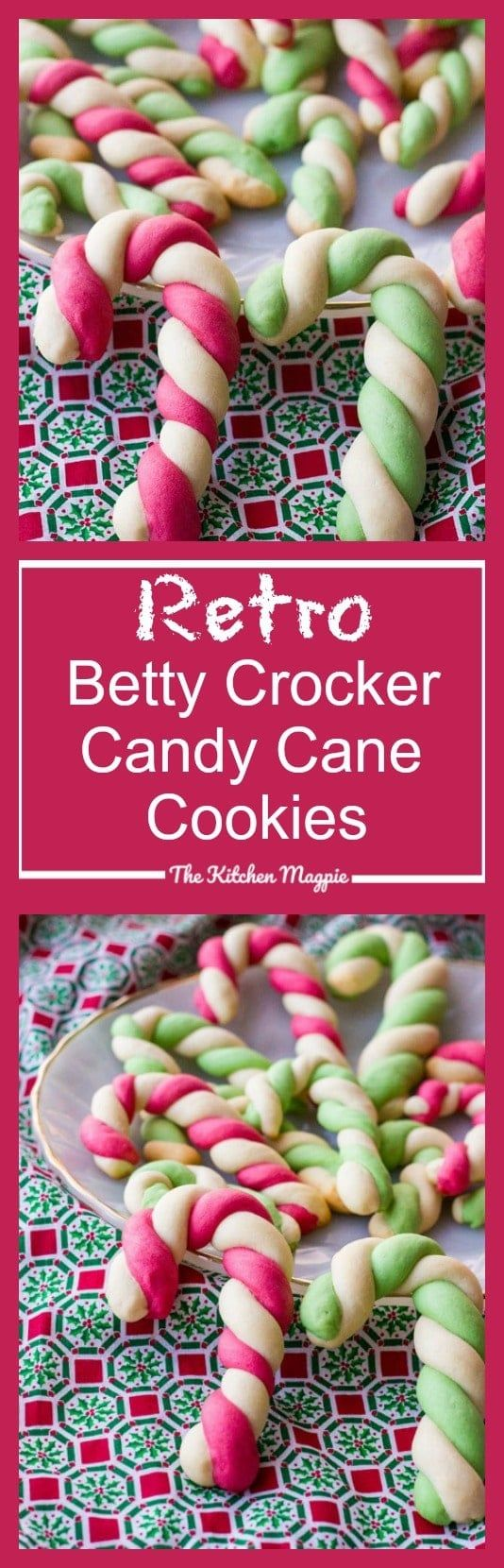 Retro Betty Crocker Candy Cane Cookies The Kitchen Magpie