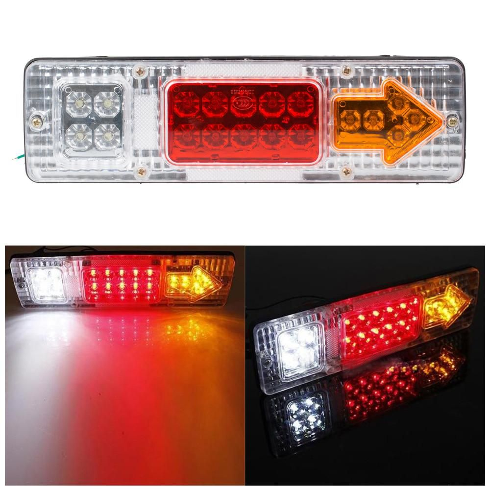 1 Pair 12v Led Truck Tail Light Rear Lights Trailer Turn Signal Warning Light Lorry Caravan Stop Rear Tail Indicator Lig Light Trailer Indicator Lights 12v Led