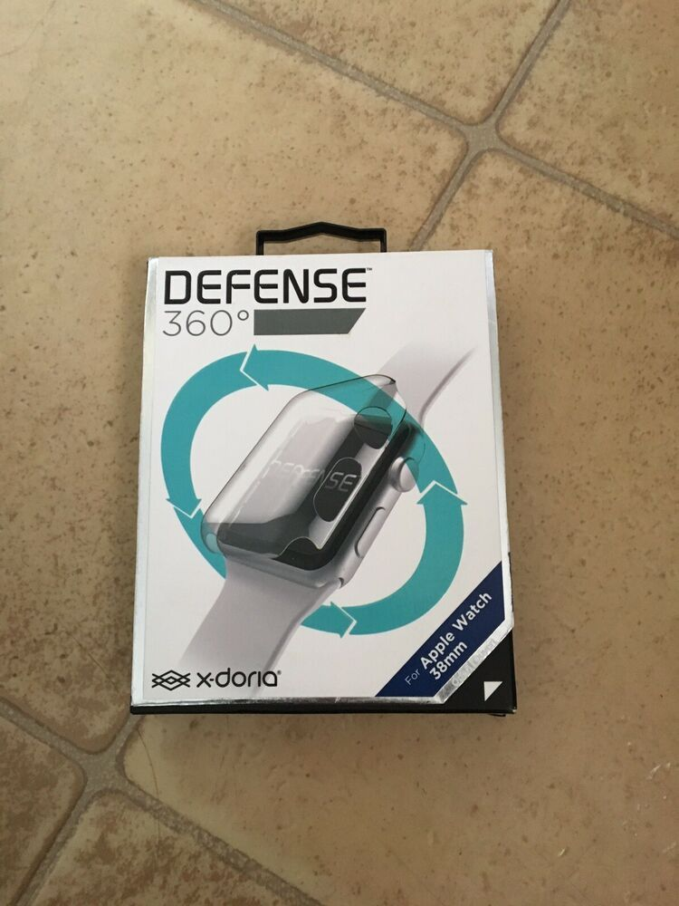 check out e9969 dd878 New X-Doria Defense 360 Bumper Screen for Apple Watch 38mm - Clear ...