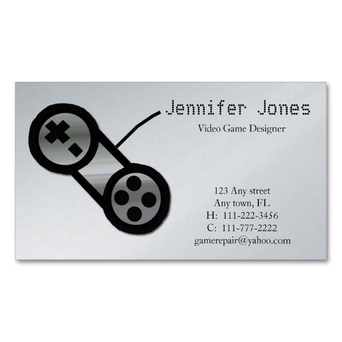 Video Game Design Business Card Zazzle Com Business Card Design Video Game Design Business Design
