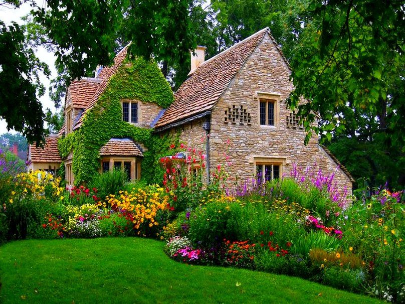 wallpaper english mansions cottage anglais wallpaper. Black Bedroom Furniture Sets. Home Design Ideas