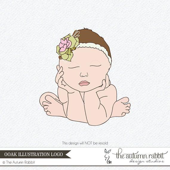 Premade Newborn Photography Logo Design One of by TheAutumnRabbit