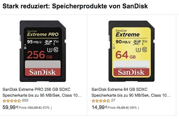 EU Deal Extended: Save On SanDisk Memory Cards At Amazon DE