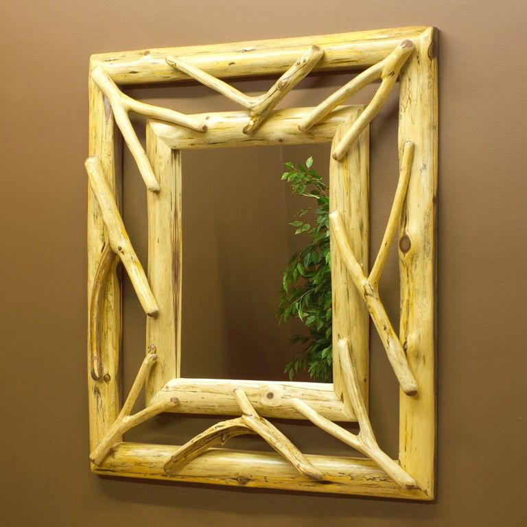 Red Cedar Twig Mirror Frame is constructed mainly of aromatic red cedar.  Eastern red aromatic cedar is one of the most pleasant smelling woods in nature.- Cabin Decor