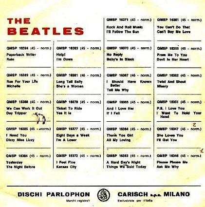 Musik Graffiti The Beatles Alle Daekpladerne Af 45 O Min Singler Trykt I Italien The Beatles Beatles Graffiti Og Italien