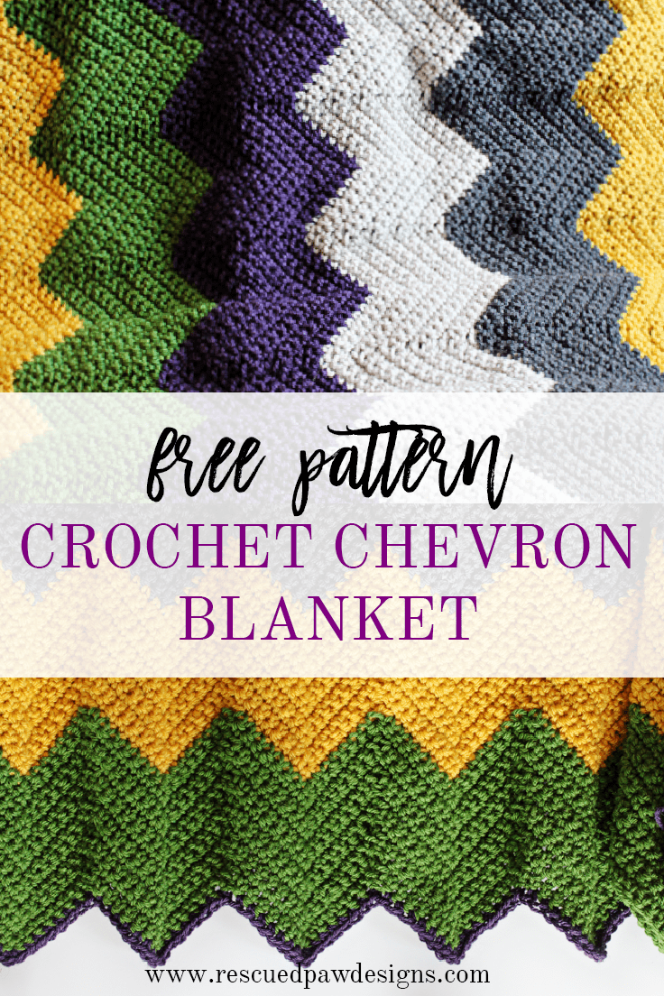 Free Pattern - Crochet Chevron Blanket - Easy & Fast Pattern | Manta