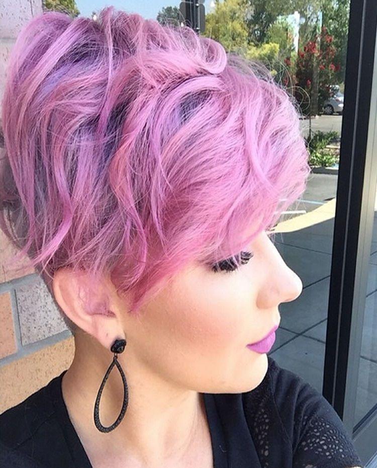 Lila Gefärbtes Haar | Frisuren 2014, Lockige frisuren