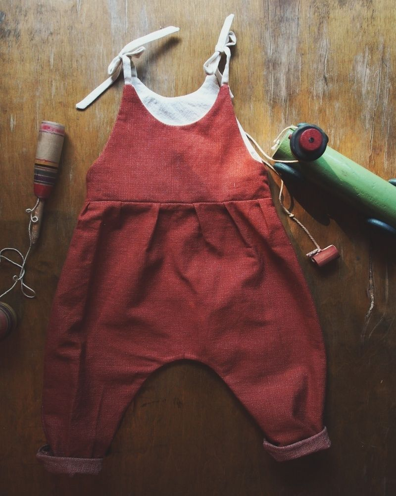 Baby jean overalls