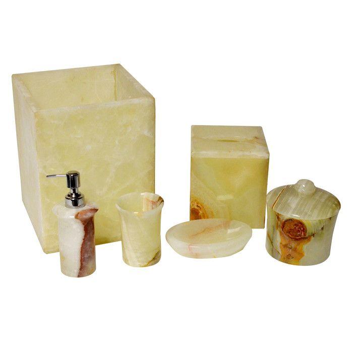 Onyx 6 Piece Bathroom Accessory Set Bathroom Accessories Sets