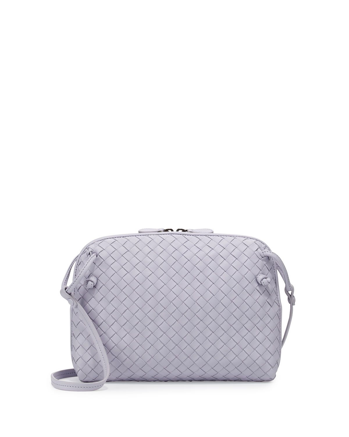 Intrecciato Small Zip Crossbody Bag 6bc6f5cf942bc