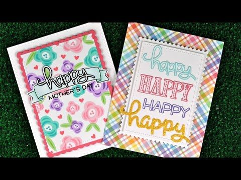 Intro Happy Happy Happy, Bannertastic + Scripty Happy is part of lawn Background Stamp Sets - Hello and Welcome to our March Inspiration Week! We are showcasing 6 new stamp sets, 10 stand alone die sets and our Watercolor Wishes Paper Collection! All of these products are available now at lawnfawn com and at your favorite crafty stores  We already have two places you can leave comments to win Our Big GiveawayRead more