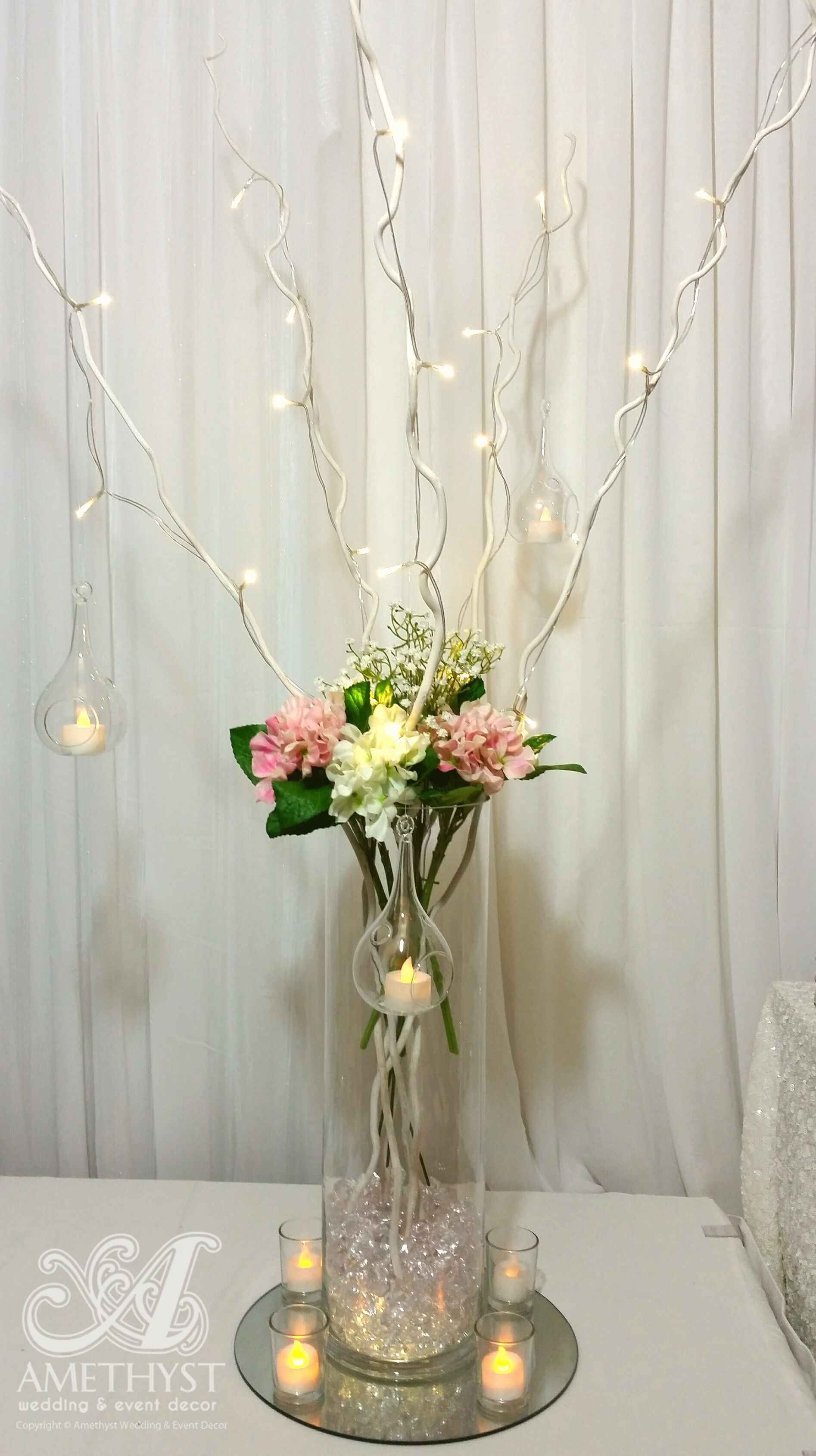 Whimsical Wedding centerpiece, high quality artificial hydrangeas ...