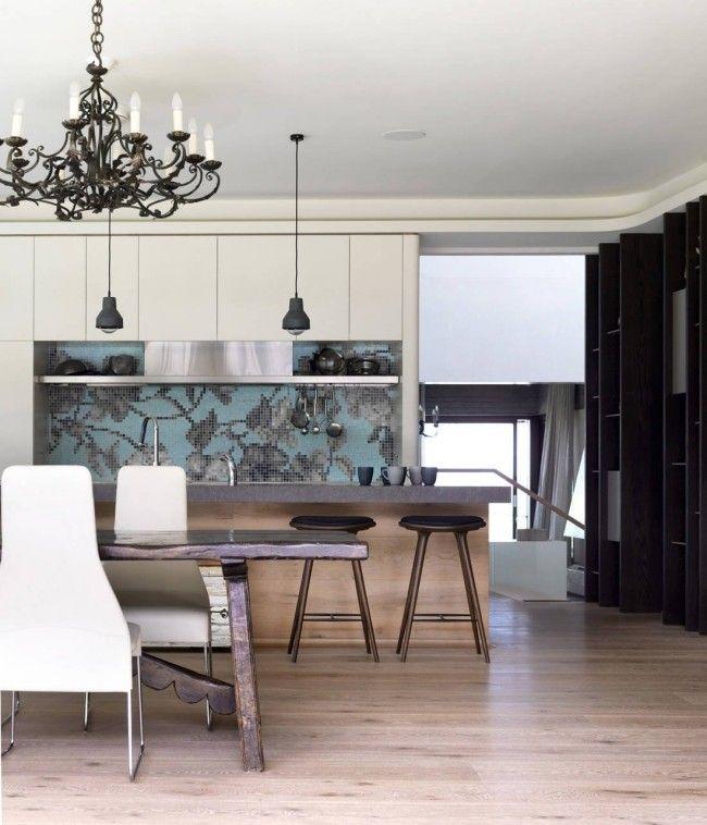 wohnideen für die küche modern weiß fliesenspiegel hellblau grau - esszimmer modern weis grau