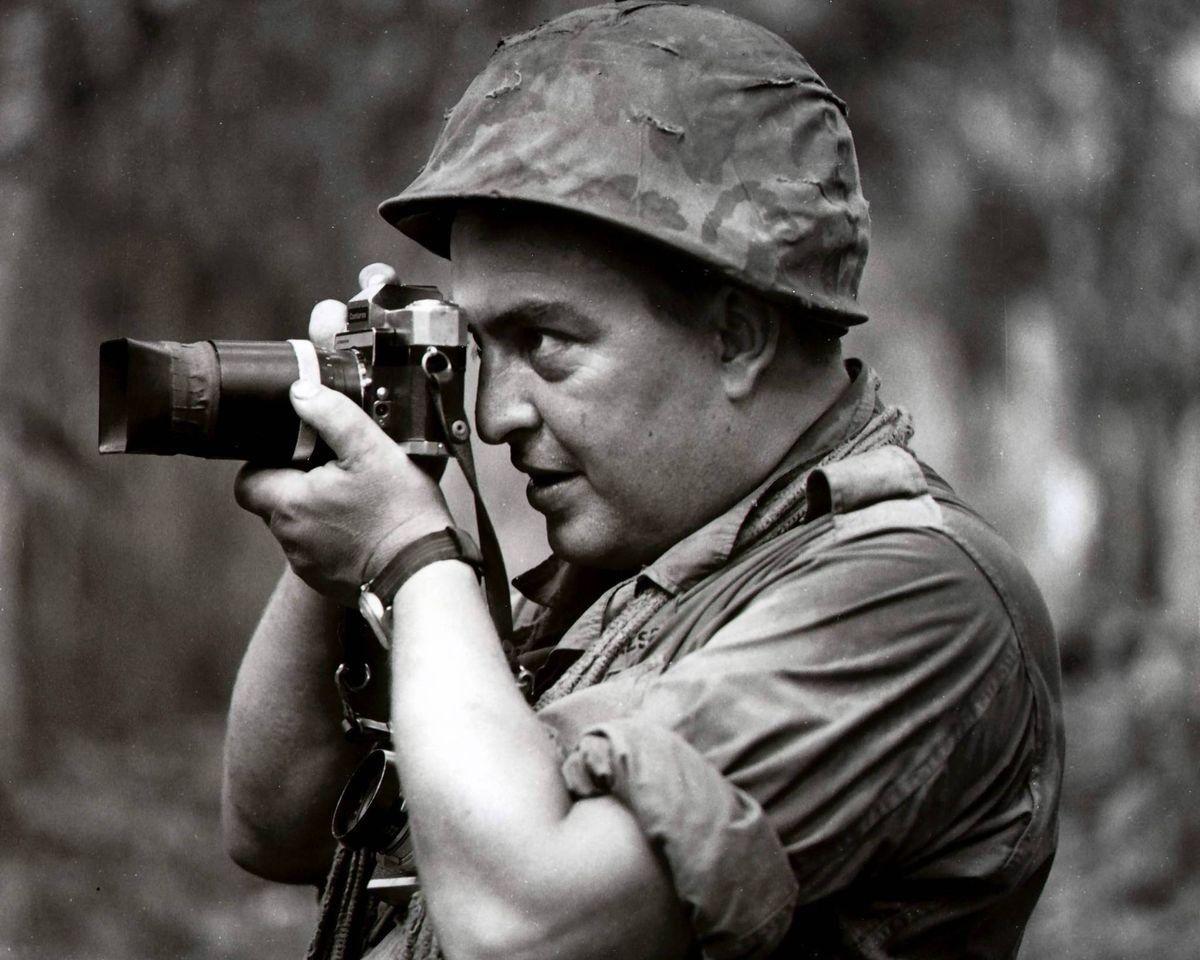 War Photographer Horst Faas In Vietnam Using An Early