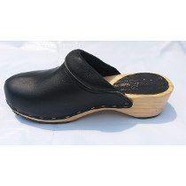810ab8f4e3e Zapatos Suecos De Piel Y Suela De Madera