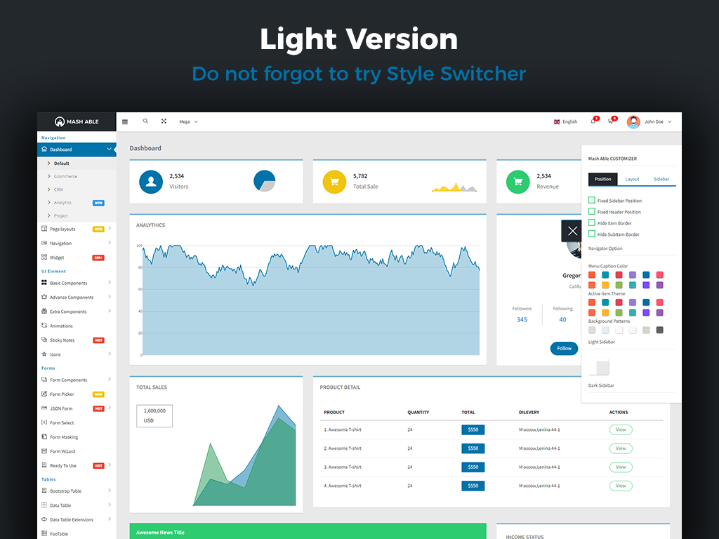 Mash Able Bootstrap 4 Admin Template 65324 Templates