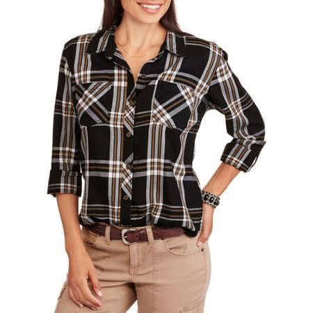Faded Glory Women's Plaid Button Up