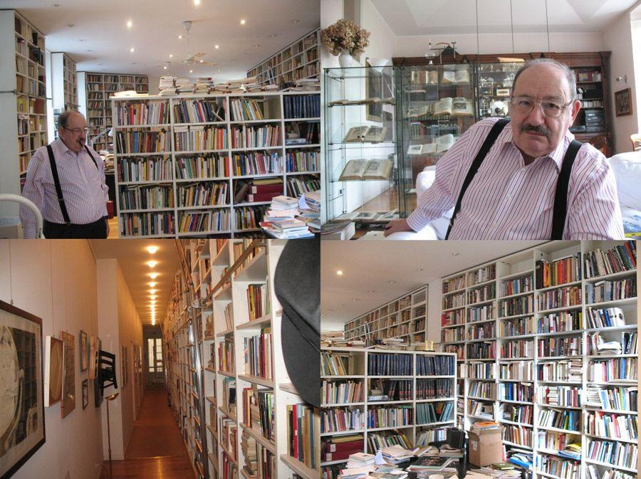 biblioteka należąca do Eco
