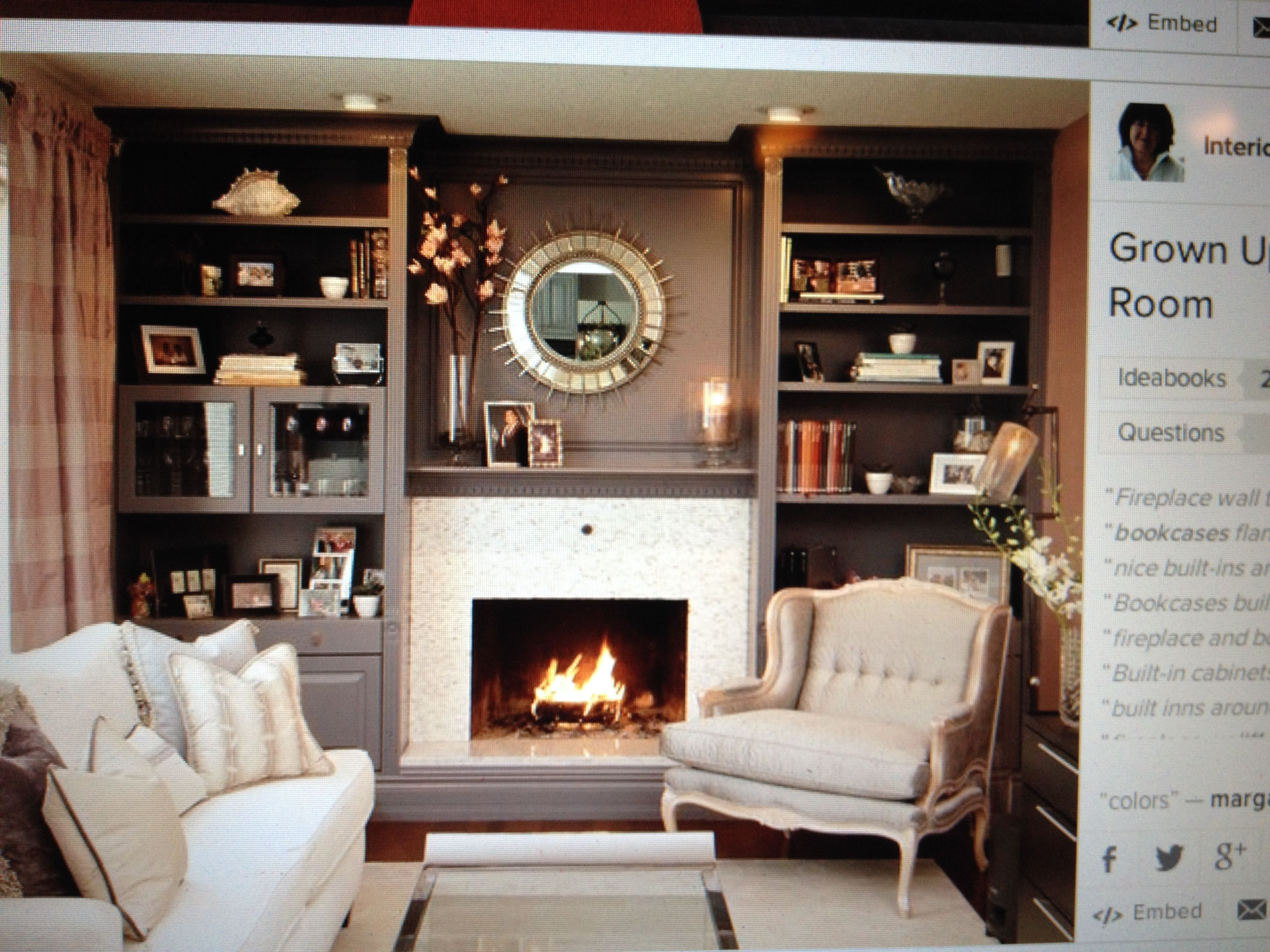 That Chair Next To The Fireplace Living Room Decor Fireplace Fireplace Built Ins Traditional Family Rooms