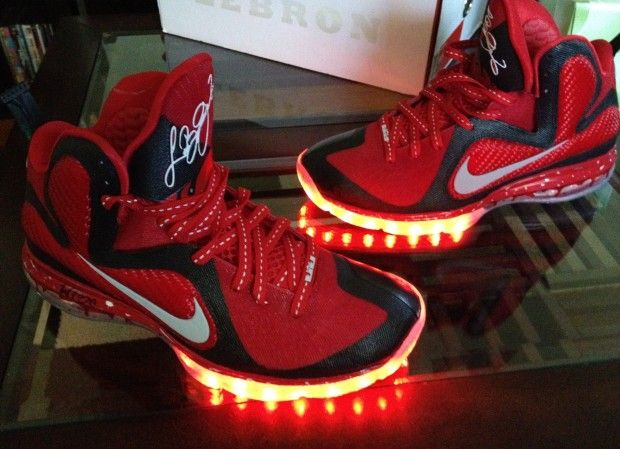 sneakers for cheap c8a97 1cc1f official nike lebron 9 elite nba finals custom e9a62 c8a33  switzerland nike  lebron 9 pe lights custom i dont know how i feel about this.