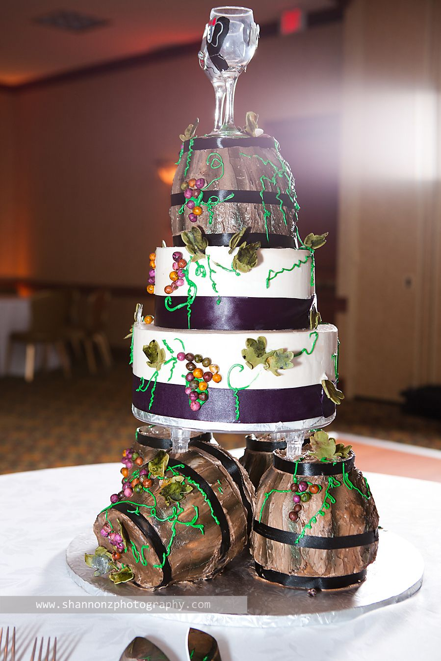 Wine Theme Wedding Cake Adorable Bridal Stuff
