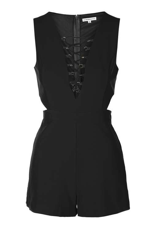 af7b92dead   Lace-Up Playsuit by Glamorous Petites