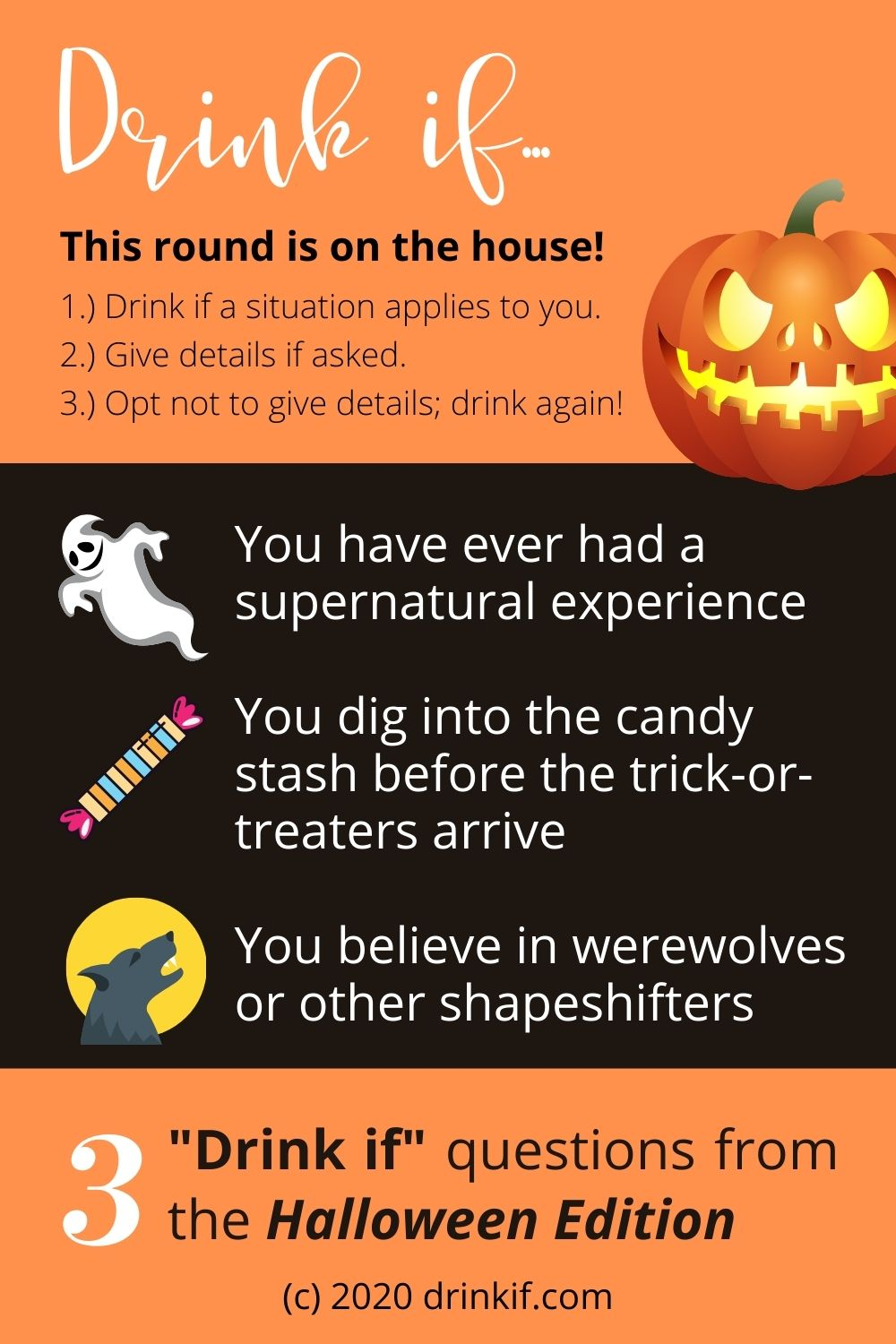 Drink if... Halloween Edition Drinking Game Instant