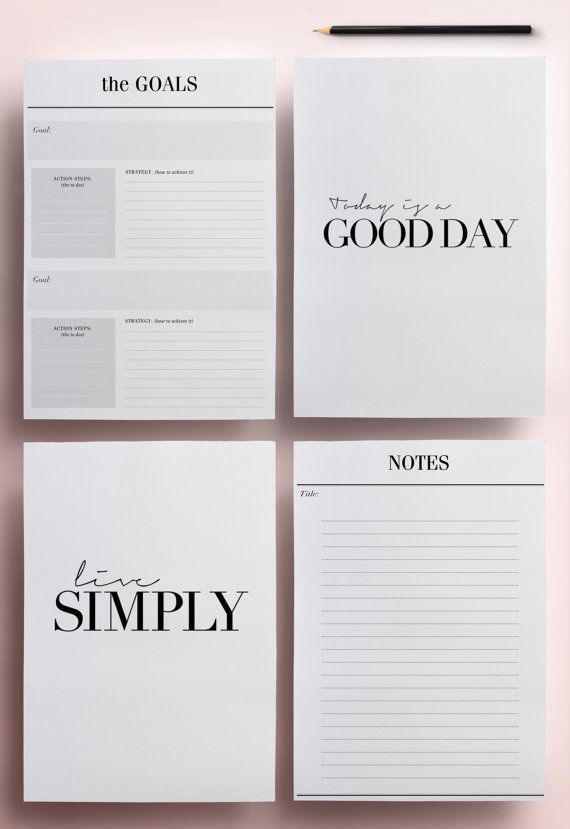 Planner Printable A5 Pack, 13 Modern Organizer Pages