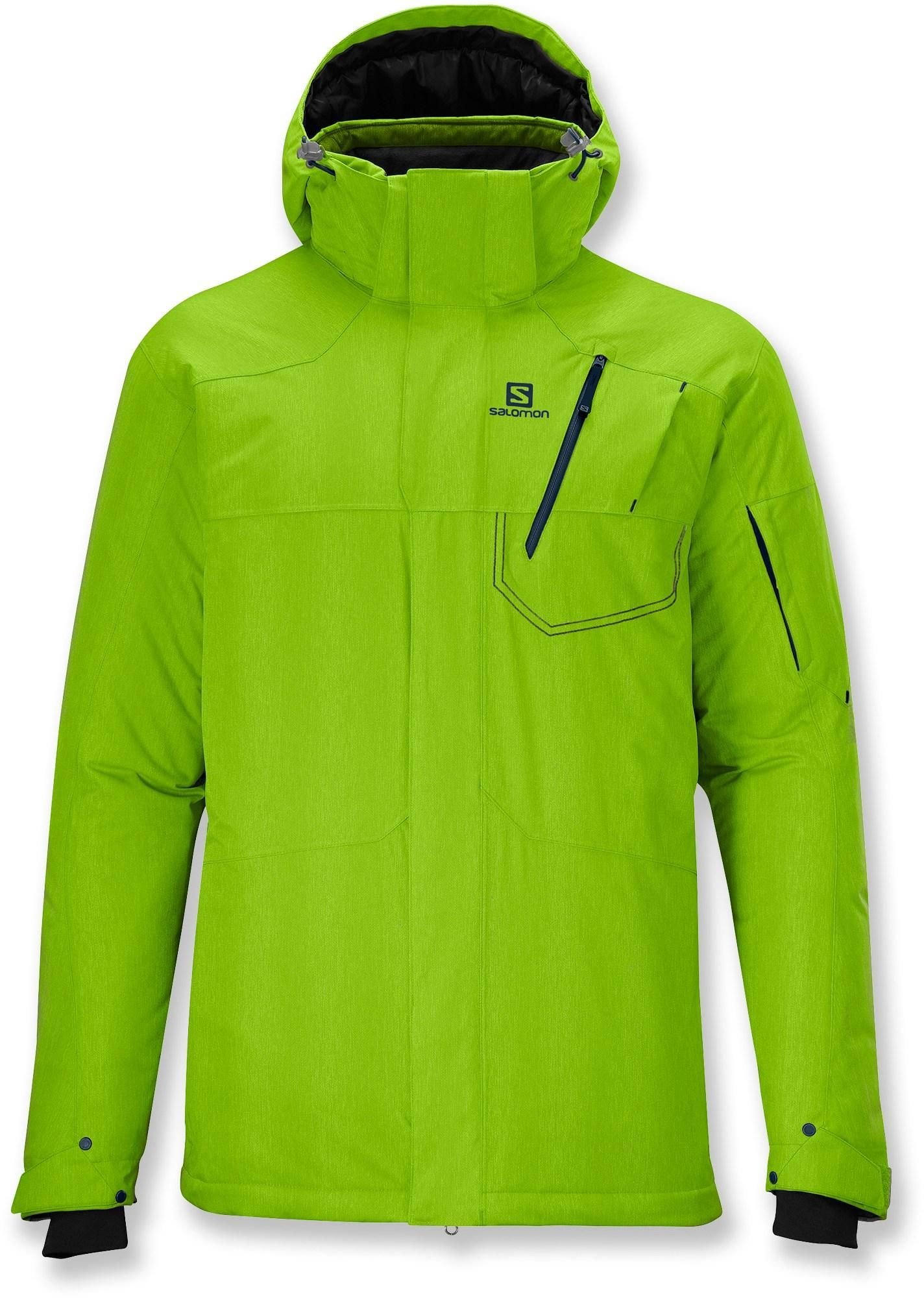 f2f26d0474 The fashionable Exposure Ski Suit from Salomon is designed to keep out the  weather while you play o…