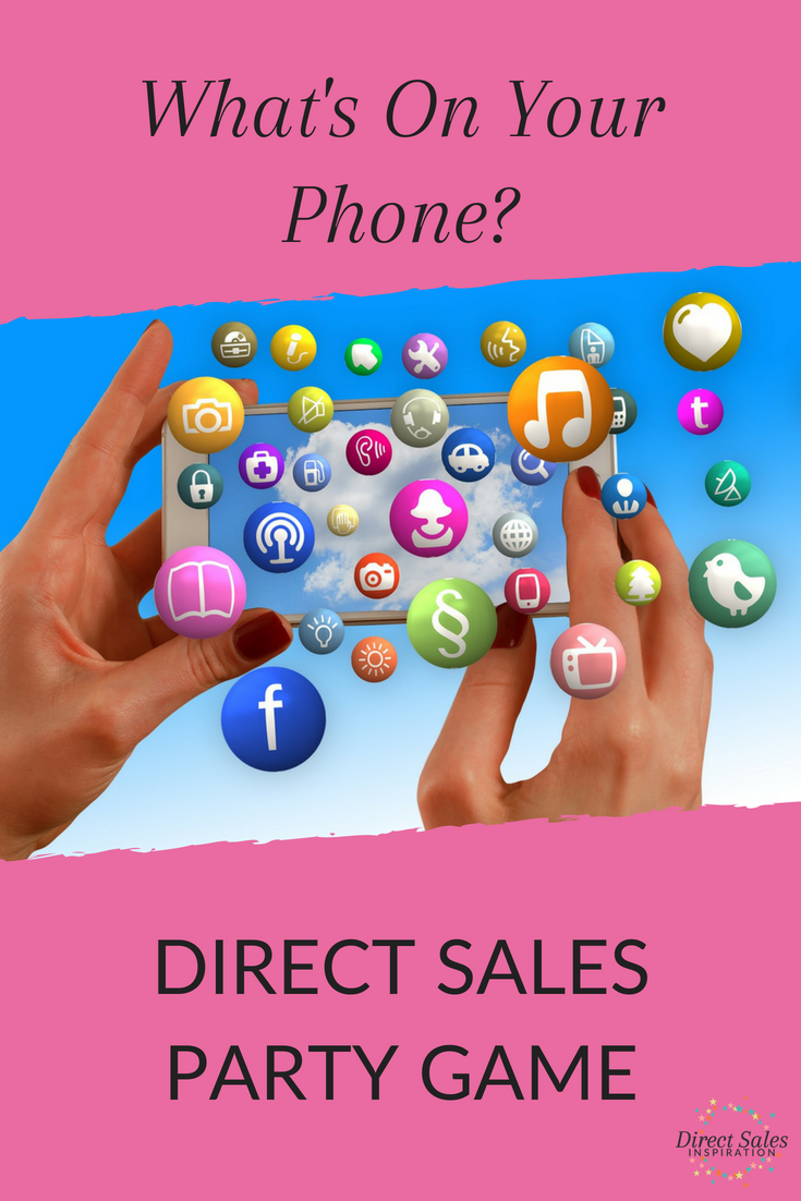 What's On Your Phone Game Direct sales party games, Home
