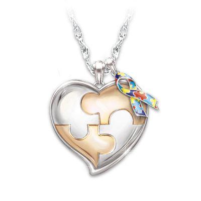 """My Hero"" Autism Awareness Personalized Pendant Necklace"