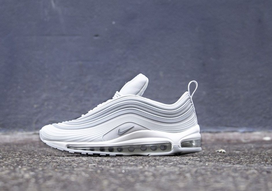 0c4d8184e1 NIKE AIR MAX 97 ULTRA '17 PREMIUM PLATINUM, WOLF GREY & WHITE LIMITED  SNEAKERS #Nike #RunningShoes