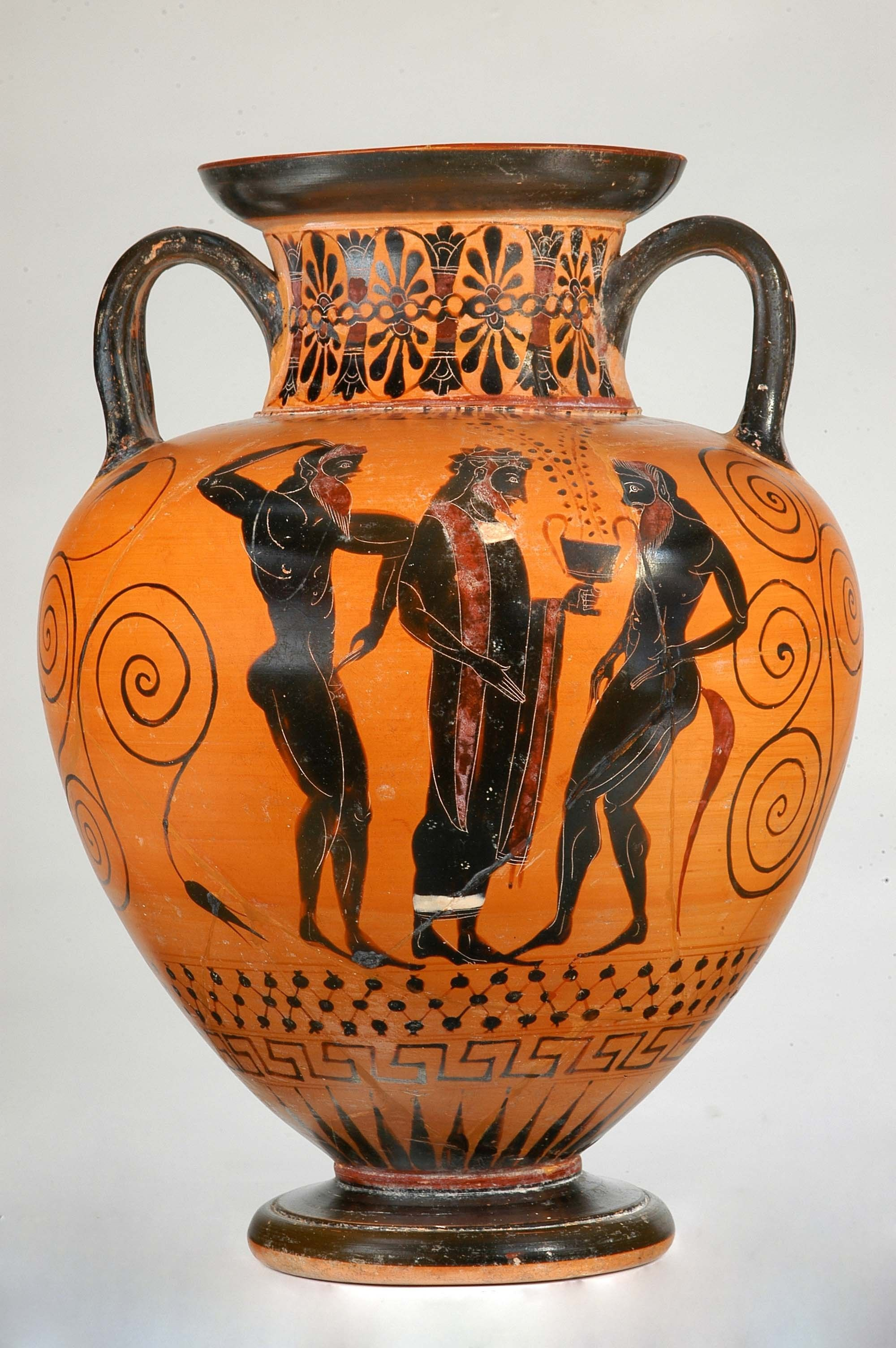 Amphora Greek Attic Archaic 540 B C 530 B C Museum Of Cycladic Art Ancient Greek Art Ancient Greek Pottery Greek Pottery