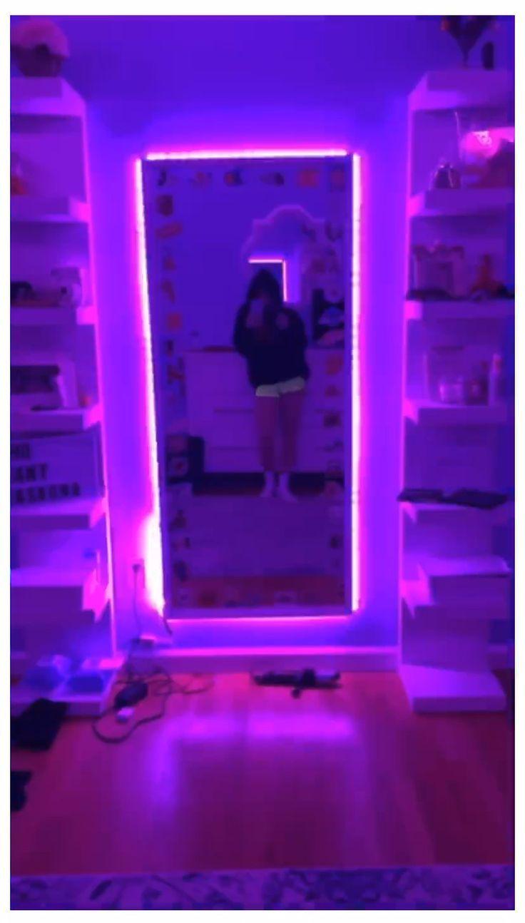 ✰ -  Chambre néon, Deco mur chambre, Chambre deco ado