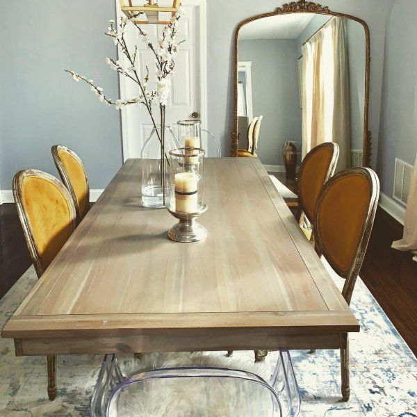"""bradding shadow gray 84"""" dining table in 2020  grey"""