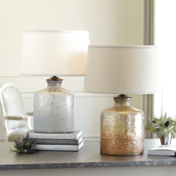 Ellis Glass Table Lamp In Amber | Ballard Design