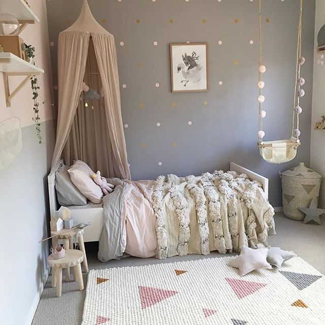 Such A Stunning Little Girls Room Put Together By @mamabirdlife Beautiful  Neutral Color Combination Of