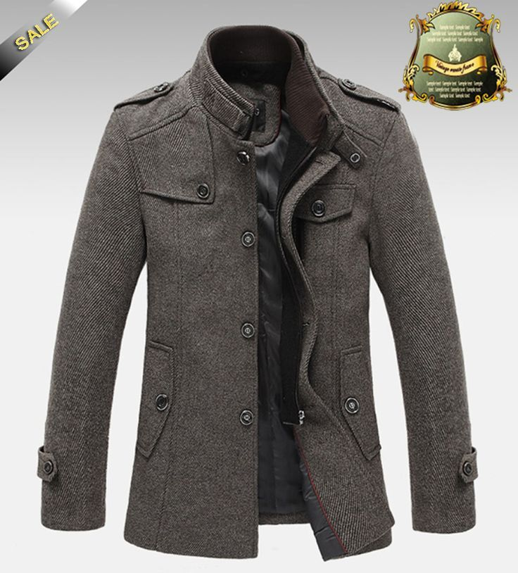 Knitted Stand Collar Wool Blend Tweed Coats Long Jackets Mens Winter Fashion Mens Coats Mens Outfits