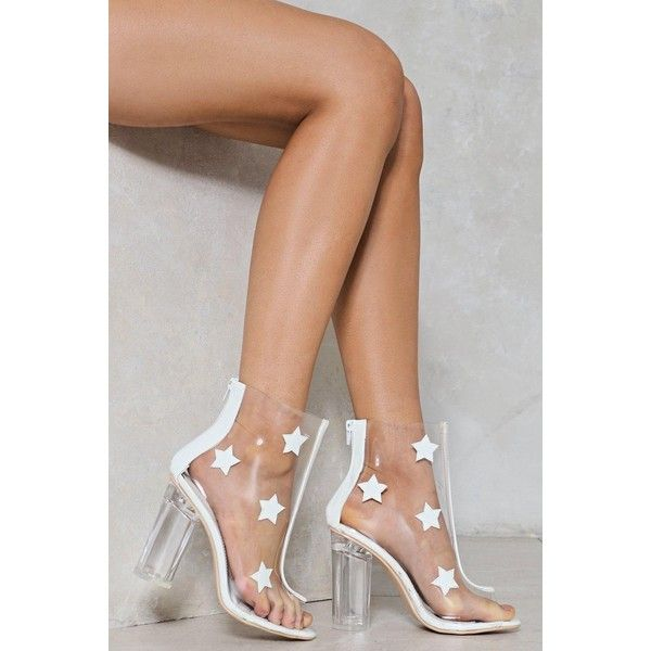 6750d45d03c Nasty Gal The Prettiest Star Clear Bootie ($60) ❤ liked on Polyvore ...