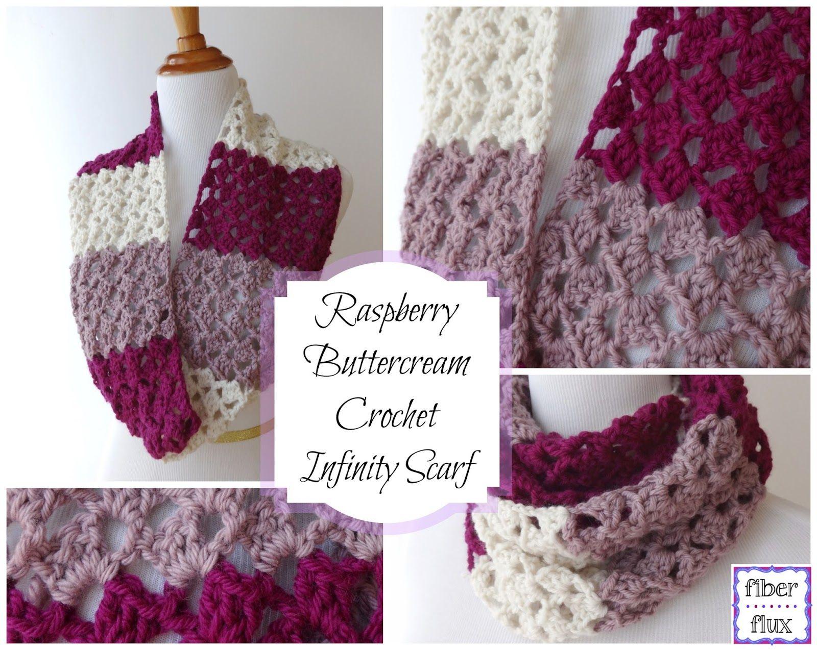 Free Crochet Pattern...Raspberry Buttercream Infinity Scarf! (Fiber ...