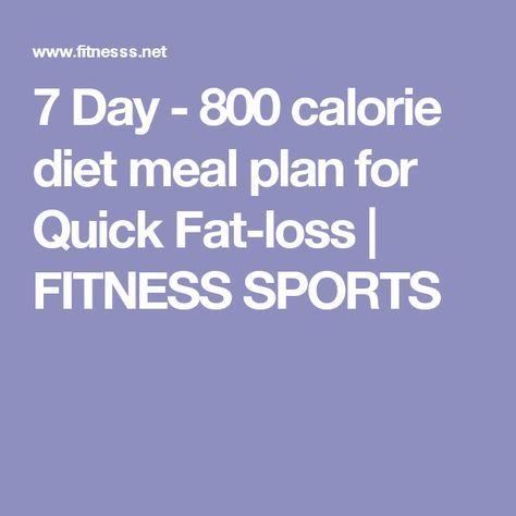Photo of 7 Tage – 800-Kalorien-Diät-Plan für schnellen Fettabbau – FITNESS SPORTS