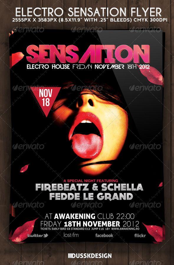 Electro Sensation Flyer Electro music, Flyer template and Template - karaoke night flyer template