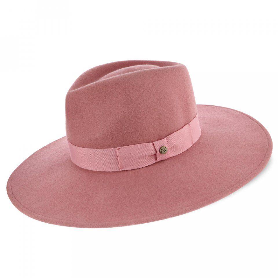 d9b4db311c3f4 Capri - Walrus Hats Pink Wide Brim Wool Felt Fedora Hat in 2019 ...