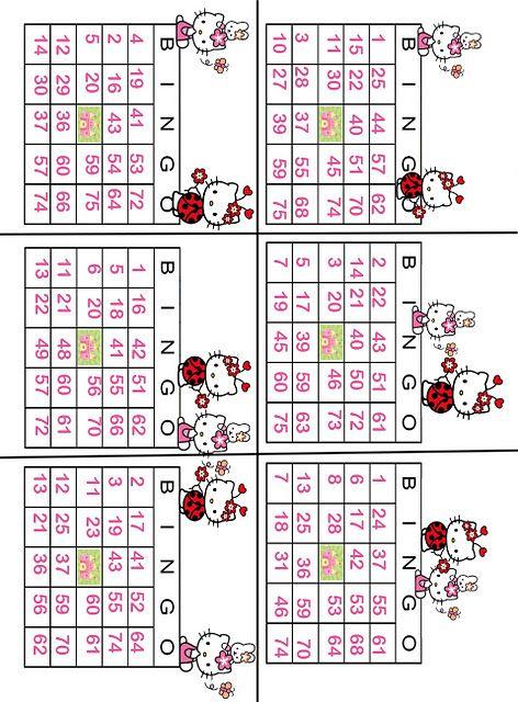 Hello kitty Bingo. This site has so many cute free Hello Kitty ...