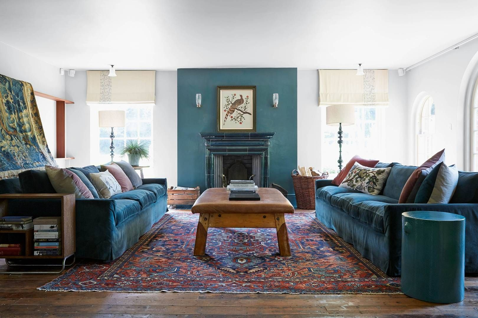 Industrial Living Room Teal Teal Blue Wall Paint Ideas Industrialliving Roomteal Blue Living Room Living Room Designs Room Design #teal #and #blue #living #room
