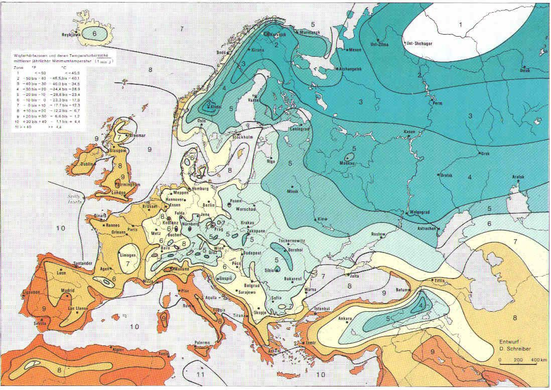 Bartels, Andreas. USDA Hardiness Zones in Europe. From ...