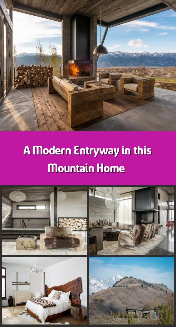 A Modern Entryway in this Mountain Home - Nestled between ... on Front Range Outdoor Living id=70623