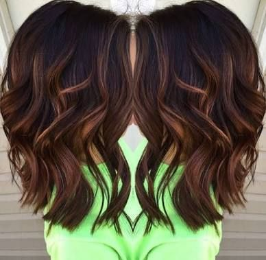 Image Result For Brunette Shoulder Length Hair 2017 With Caramel Highlightsdark