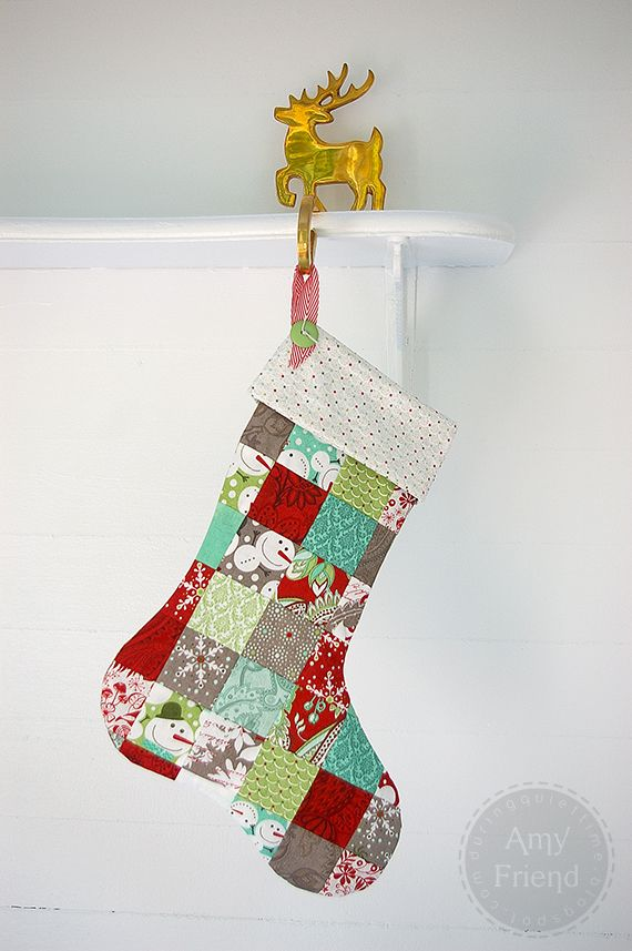 Sew What : Patchwork Christmas Stockings | Crafts | Pinterest ...